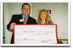 Generous donation from Bank of America