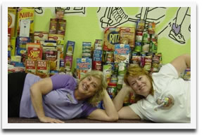 Curves for Women have a food drive for DFS food pantry each spring.