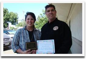 Volunteers of the Year Dee Ann and Michael Kersey.